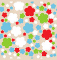 seamless retro geometric pattern with flowers vector image vector image