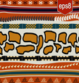 Seamless texture with African elements vector image vector image