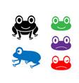 set frog icon in cartoon style vector image vector image