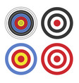 shooting target icon set on white background vector image vector image