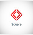 square target geometry logo vector image