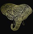 stylized head an elephant ornamental portrait vector image vector image