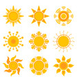 sun graphics summer weather sunshine symbols vector image vector image