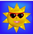 Sun with Sunglasses Icon vector image vector image