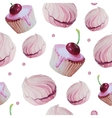 Sweet cake patten watercolor vector image vector image