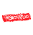temporary red grunge rubber stamp vector image vector image