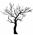 Tree black silhouette isolated on white background vector image vector image