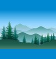 trees and mountains vector image