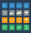 weather icons set flat design for website and vector image vector image
