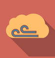 wind icon in flat style isolated on color vector image