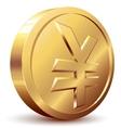 Yen coin vector image vector image