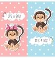 Monkey boy and girl vector image