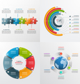 6 steps infographic templates Business concept vector image vector image