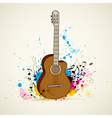 Abstract music background with guitar vector image vector image