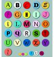 Alphabet on multicolor circles vector image vector image