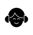 audio listening - man with headphones icon vector image