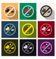 bacteria and germs colorful set micro-organisms vector image vector image