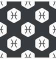 Black hexagon Pisces pattern vector image vector image