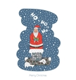 Cartoon character Santa Claus vector image vector image