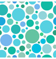 chaotic pattern round colorful graphic dots vector image