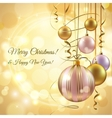 Christmas background template vector image vector image
