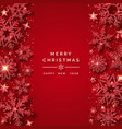 christmas background with shining red snowflakes vector image vector image