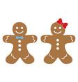 christmas cartoon of gingerbread man cookie vector image