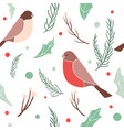 christmas seamless pattern with branches vector image