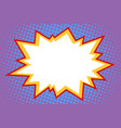 comic white explosion vector image