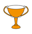 cup trophy design vector image
