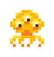 cute orange space invader monster game enemy vector image