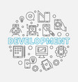 development round business outline vector image