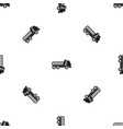 dumper truck pattern seamless black vector image vector image