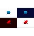 elegant modern shopping bag logo designs concept vector image vector image