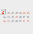 email ui pixel perfect well-crafted thin vector image vector image