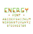 energy font alphabet vector image vector image