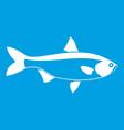 fish icon white vector image