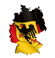German Map Flag vector image vector image
