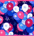 ink hand drawn seamless pattern with balloons vector image vector image