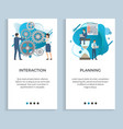 interaction and planning business projects set vector image vector image