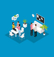 isometric business partnership concept vector image vector image