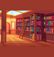 library interior empty room for books reading vector image
