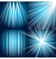 Light flash explosion and glow vector image vector image