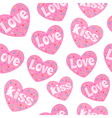 Love hearts seamless pattern vector image