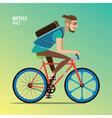 Man on a fix gear bike vector image vector image