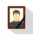 Memory portrait icon flat style vector image vector image