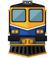 modern train design on white background vector image vector image