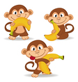 monkey and banana vector image vector image