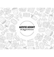 movie night biggest premiere banner template vector image