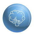 natural broccoli icon outline style vector image vector image